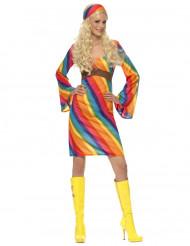 Regenboog hippie kostuum voor vrouwen