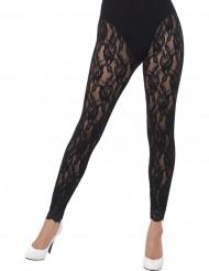 Zwarte kanten legging voor dames