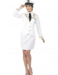 Wit officier kostuum voor vrouwen