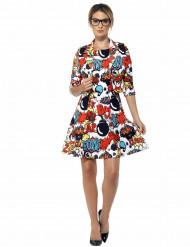Pop art jurkje voor vrouwen