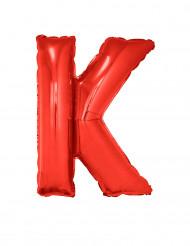 Enorme aluminium ballon letter K