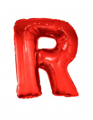 Enorme rode letter R ballon