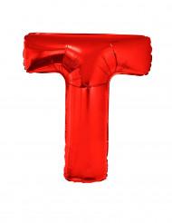 Enorme aluminium ballon letter T