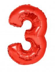 Enorme aluminium ballon cijfer 3