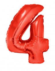 Gigantische rode ballon cijfer 4