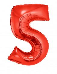 Enorme rode cijfer 5 ballon