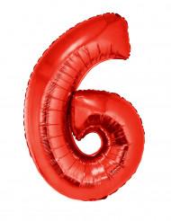 Enorme aluminium ballon getal 6