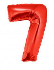 Enorme rode cijfer 7 ballon