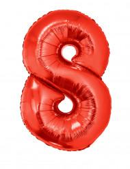 Enorme aluminium ballon cijfer 8