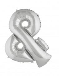 Zeer grote zilverkleurige & ballon