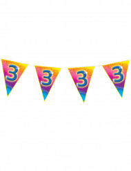 Verjaardagsslinger cijfer 3