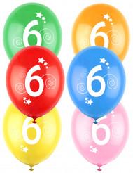12 kleurrijke 6 jaar ballonnen