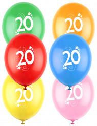 12 kleurrijke 20 jaar ballonnen