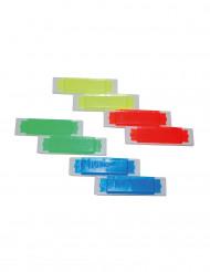 8 kleurrijke mini harmonicas