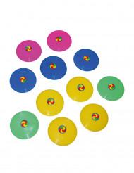 12 kleurrijke mini frisbees