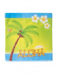 20 papieren Aloha servetten