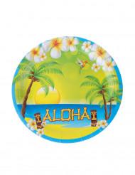 8 kartonnen Aloha borden