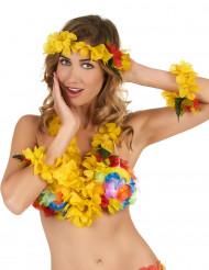 Gele Hawaii set voor volwassenen