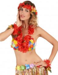 Rode Hawaii set voor volwassenen