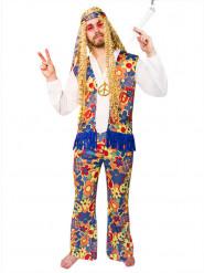 Hippie kleurrijk bloemen kostuum voor volwassenen