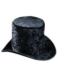 Zwarte fluweelachtige hoge hoed