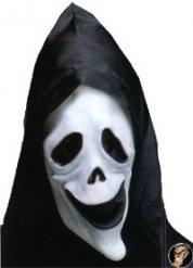 Fluorescerend spook masker met muts voor volwassenen