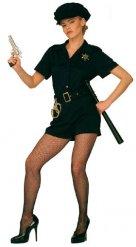 Donkerblauwe sexy politie agente outfit voor vrouwen