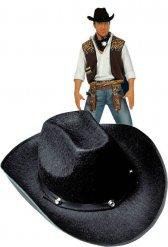 Zwarte cowboy deukhoed voor volwassenen