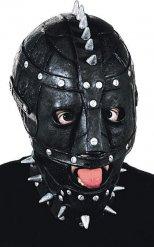 Zwart SM masker met zilverkleurige nagels