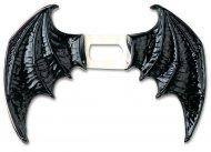 Zwarte vinyl duivel vleugels voor volwassenen