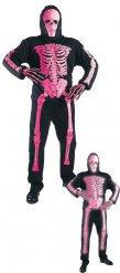 Roze skelet kostuum voor kinderen