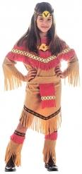 Rood met beige indianen kostuum voor meisjes