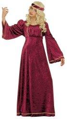 Rood middeleeuws prinses kostuum voor meisjes