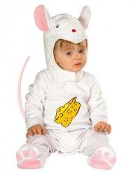 Roze wit muizen kostuum voor baby