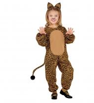 Geel en bruin luipaard kostuum voor kinderen