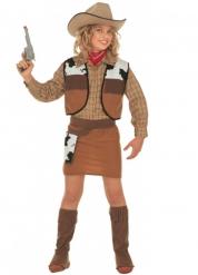 Bruin cowgirl kostuum voor meisjes