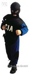 Blauw en zwart CIA kostuum voor kinderen