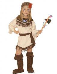Beige en bruin Indianen kostuum voor meisjes