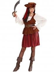 Vechtlustige piraten outfit voor dames