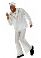 Wit matrozen kostuum voor volwassenen