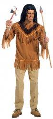 Bruin indianen t-shirt met franjes voor mannen