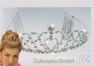 Zilverkleurige prinsessen tiara voor dames