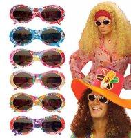 Veelkleurige hippie bril voor volwassenen