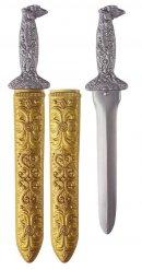 Zilverkleurig zwaard met schede