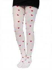 Kleine rode hartjes panty voor vrouwen