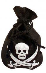 Zwarte piratenzak met doodskop