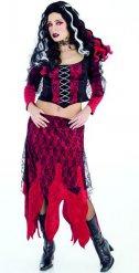 Rood gothic vampier kostuum voor vrouwen