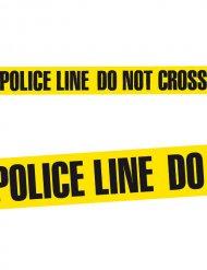Zwarte en gele politietape