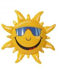 Gele opblaasbare zon