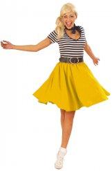 Gele jaren 50 rok voor vrouwen